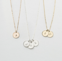 three initial necklaces