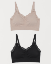 two nursing bras