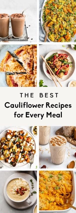 collage of cauliflower recipes