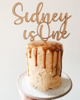 cake with a cake topper