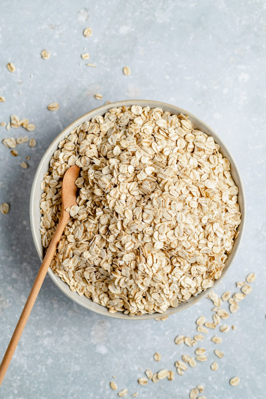 bowl of oats with a spoon