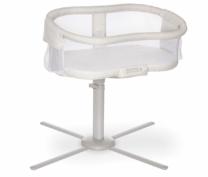 white baby bassinet