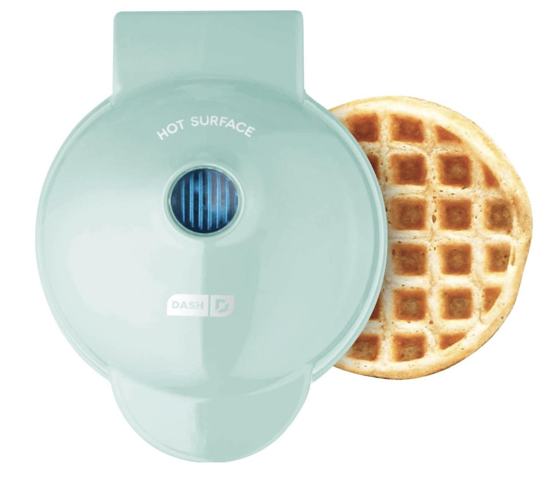 mini blue waffle maker