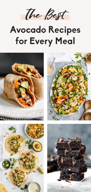collage of avocado recipes