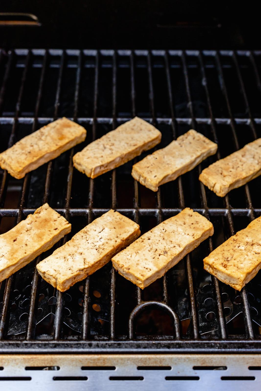 grilling tofu strips