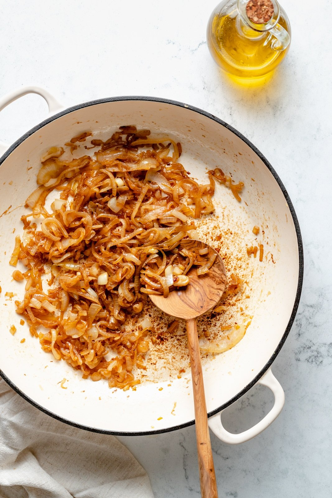 caramelized onions in a pot to make pasta sauce