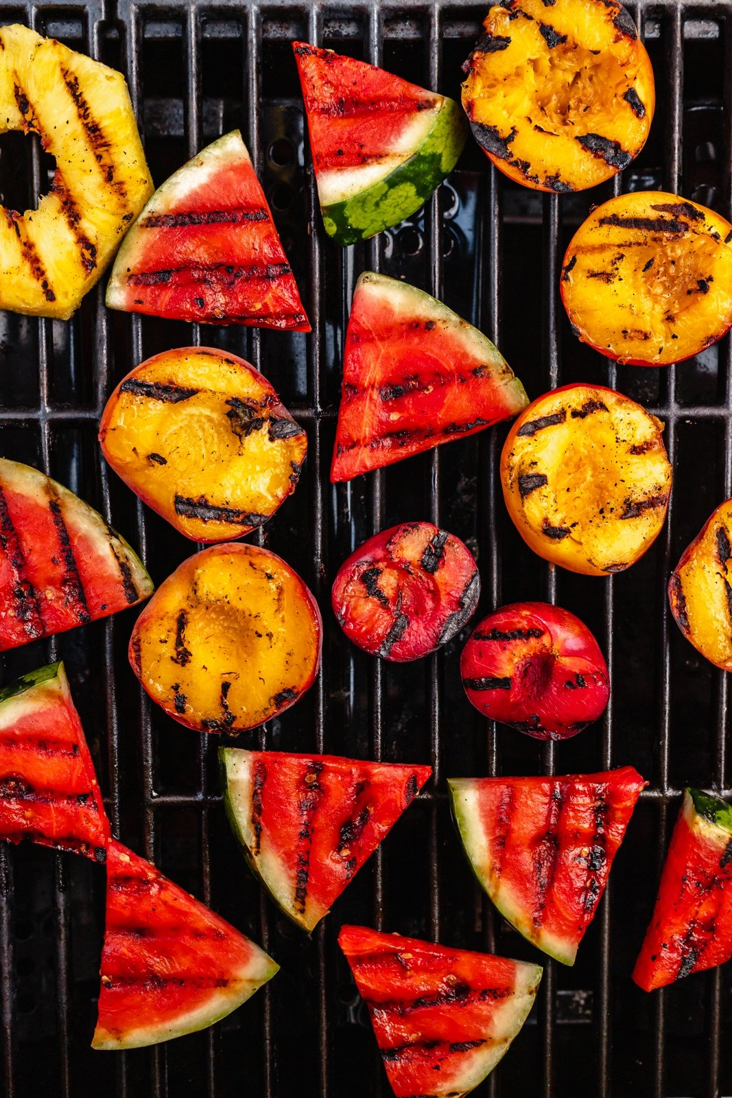 grilled fruit on a grill