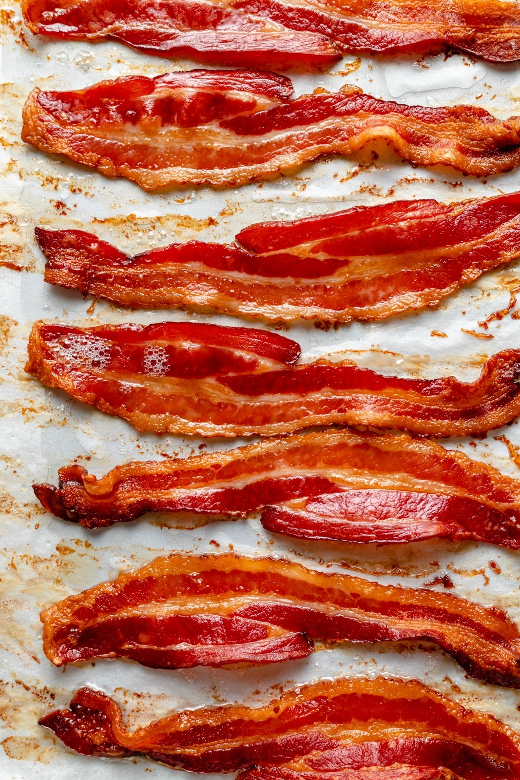 bacon slices that were cooked in the oven