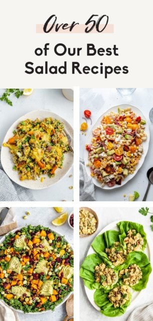 collage of the best healthy salad recipes