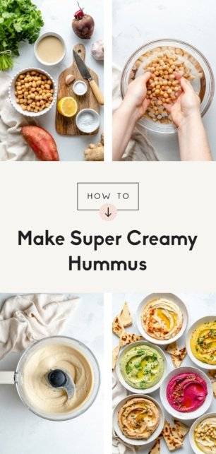 collage of how to make hummus