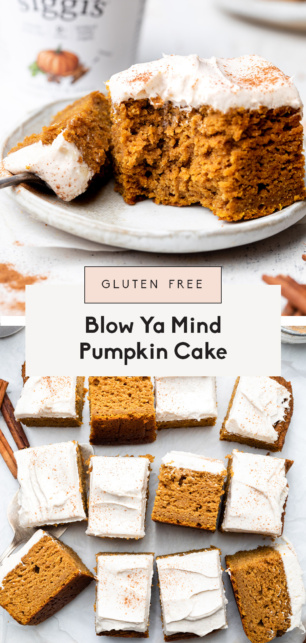 collage of healthy pumpkin cake